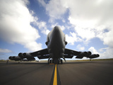 A U.S. Air Force Maintenance Crew Performs Post Flight Checks on a B-52 Stratofortress Photographic Print by  Stocktrek Images
