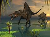 Artist's Concept of Spinosaurus Fotografisk tryk af Stocktrek Images,