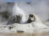Grotto Geyser Eruption, Upper Geyser Basin Geothermal Area, Yellowstone National Park Photographic Print by  Stocktrek Images