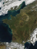 Satellite View of France Photographic Print by  Stocktrek Images