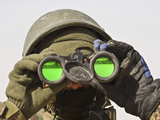 An Afghan Soldier Scans the Horizon for Enemy Movements Photographic Print by  Stocktrek Images