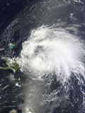 Satellite View of Hurricane Irene over the Dominican Republic and Puerto Rico Photographic Print by  Stocktrek Images