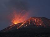 Vulcanian Eruption of Anak Krakatau Volcano, Sunda Strait, Java, Indonesia Photographic Print by  Stocktrek Images