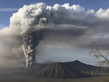Eruption of Ash Cloud from Mount Bromo Volcano, Tengger Caldera, Java, Indonesia Photographic Print by  Stocktrek Images