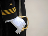 A U.S. Naval Academy Midshipman Stands at Attention Photographic Print by  Stocktrek Images
