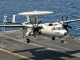 A US Navy E-2C Hawkeye Prepares to Land Aboard USS Eisenhower Photographic Print by  Stocktrek Images