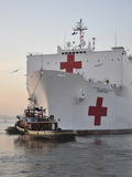 The Hospital Ship USNS Comfort Departs for Deployment Photographic Print by  Stocktrek Images