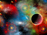 Artist's Concept Illustrating Our Beautiful Cosmic Universe Reprodukcja zdjęcia autor Stocktrek Images