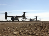 V-22 Osprey Tiltrotor Aircraft Arrive at Camp Bastion, Afghanistan Photographic Print by  Stocktrek Images