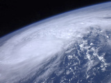 View from Space of Hurricane Irene as it Passes over the Caribbean Photographic Print by  Stocktrek Images