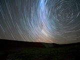 Star Trails around the South Celestial Pole, Somuncura, Argentina Photographic Print by  Stocktrek Images