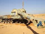 A M109 Howitzer Destroyed by Nato Forces in the Desert Outside Benghazi, Libya Photographic Print by  Stocktrek Images