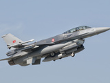A Turkish-Built F-16 in Flight at the Izmir Air Show in Turkey Photographic Print by  Stocktrek Images