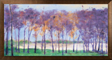 Grove And Lake Framed Canvas Print by Ken Elliott