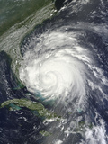 Satellite View of Hurricane Irene over the Bahamas. Photographic Print by  Stocktrek Images