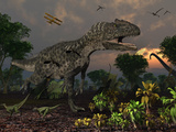 Prehistoric Dinosaurs Roam Freely Where Time Stands Still Photographic Print by  Stocktrek Images