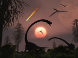 Artist's Concept of the Extinction of Prehistoric Earth Photographic Print by  Stocktrek Images