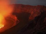 Summit Caldera with Lava Lake, Nyiragongo Volcano, Democratic Republic Congo Photographic Print by  Stocktrek Images