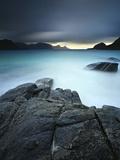 A Long Exposure Scene at Haukland Beach in Lofoten, Norway Photographic Print by  Stocktrek Images