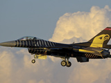 A Solo Turk F-16 of the Turkish Air Force with a Custom Paint Scheme Photographic Print by  Stocktrek Images