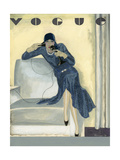 Vogue - April 1929 Gicleetryck av Pierre Mourgue
