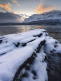 A Cold Morning in Grovfjorden, Troms County, Norway Photographic Print by  Stocktrek Images