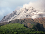 Ash and Gas Rising from Lava Dome of Soufriere Hills Volcano, Montserrat, Caribbean Photographic Print by  Stocktrek Images