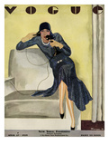 Vogue Cover - April 1929 Gicleetryck av Pierre Mourgue