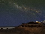 The Milky Way over the Cliffs of Miramar, Argentina Photographic Print by  Stocktrek Images