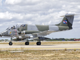A Uruguayan Air Force IA-58 Pucara at Natal Air Force Base, Brazil Photographic Print by  Stocktrek Images