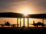 Two Embraer A-29 Super Tucano Aircraft Parked in the Hangar at Natal Air Force Base, Brazil Photographic Print by  Stocktrek Images