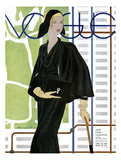Vogue Cover - April 1930 Gicleetryck av Pierre Mourgue