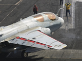 An EA-6B Prowler Is Guided onto a Catapult Aboard USS Harry S. Truman Photographic Print by  Stocktrek Images