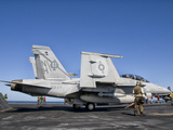 An F/A-18F Super Hornet Moves into Launch Position Aboard Aircraft Carrier USS Nimitz Photographic Print by  Stocktrek Images