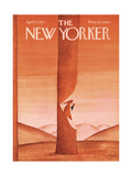The New Yorker Cover - April 11, 1970 Giclee-vedos tekijn Jean-Michel Folon