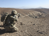 U.S. Army Soldier Provides Security for Infantry Patrolling Through Dandarh Village, Afghanistan Photographic Print by  Stocktrek Images