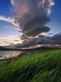 A Giant Stacked Lenticular Cloud over Tjeldsundet, Troms County, Norway Photographic Print by  Stocktrek Images