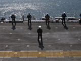 Sailors Man the Rails on the AmphibioUS Assault Ship USS Essex Photographic Print by  Stocktrek Images