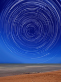Star Trails around the South Celestial Pole at the Beach in Miramar, Argentina Photographic Print by  Stocktrek Images
