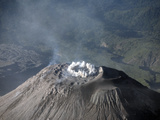 Eruption at Summit of Santiaguito Dome Complex, Santa Maria Volcano, Guatemala Photographic Print by  Stocktrek Images