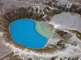 Aerial View of Crater Lake in Tongariro Volcanic Complex, New Zealand Photographic Print by  Stocktrek Images
