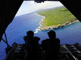 Loadmasters Look Out over Tumon Bay from a C-130 Hercules Photographic Print by  Stocktrek Images