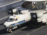 An E-2C Hawkeye Sits Ready Aboard USS Harry S. Truman Photographic Print by  Stocktrek Images