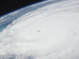 Eye of Hurricane Irene as Viewed from Space Photographic Print by  Stocktrek Images
