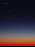 Venus, Mercury and Mars Above the Glowing Horizon at Dawn Photographic Print by  Stocktrek Images