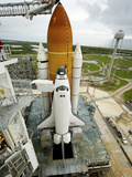 Space Shuttle Atlantis on the Launch Pad at Kennedy Space Center, Florida Photographic Print by  Stocktrek Images