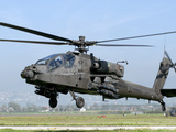 Stocktrek Images - A Dutch AH-64 Apache Deployed to Frosinone Air Base, Italy for Training Fotografická reprodukce
