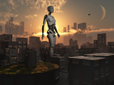 Artist's Concept of Androids Governing and Controlling Society Photographic Print by  Stocktrek Images