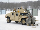U.S. Soldiers Take Cover Behind a Humvee During Combat Support Training Exercises Photographic Print by  Stocktrek Images