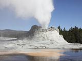 Castle Geyser Steam Phase, Upper Geyser Basin Geothermal Area, Yellowstone National Park, Wyoming Photographic Print by  Stocktrek Images